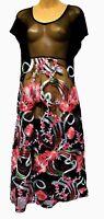 TS dress TAKING SHAPE plus sz XS / 14 Nights In Bloom Overlay Dress sheer NWT!