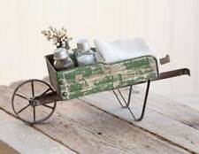 Rustic Weathered Farmhouse Decorative Tabletop Wheelbarrow Kitchen Caddy