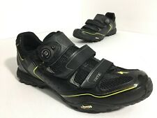 Specialized Rime MTB Bike Black Shoes US 12.25 EU 46 Men's 2-Bolt Vibram BOA