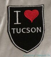 Embroidered Retro Vintage Style I Love Tucson Arizona AZ State Patch Iron On