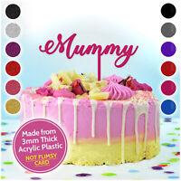 Mum Mummy PERSONALISED Custom Birthday Cake Topper ANY NAME Acrylic Decoration