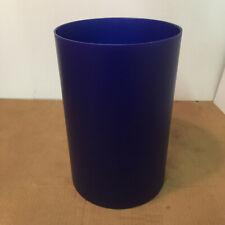 Nib, original Kartell Waste Basket / Trash Can in Translucent Sea-Blue (Oop)