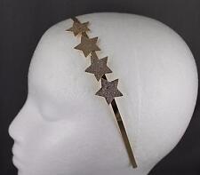 Gold STARS metal headband thin skinny narrow star hair band accessory star