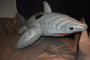 "RARE! inflatable Intex ""the wet set"" Vintage Tiger Shark"
