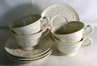 4 Wedgwood Patrician Cups And Saucers