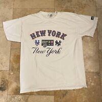 Vintage New York Subway World Series 2000 T-Shirt Size Large MLB Baseball