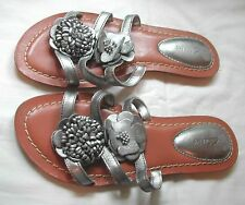 Clarks Flip Flops 100% Leather Upper Shoes for Women