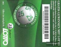 Österreich Block66 (kompl.Ausg.) postfrisch 2011 Lotto
