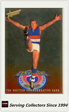 1996 Select AFL Classic Metal Ted Whitten Commemorative Card -- Rare!