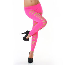 SEXY LEGGING MIT RISSEN JELA LEGGIN DESTROYED   STRETCH LEGGINGS PINK   34-38