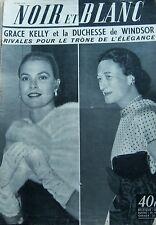 GRACE KELLY DUCHESSE de WINDSOR en COUVERTURE de NOIR et BLANC N° 580 de 1956