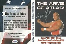 Tony Atlas Signed Arm Workout Training DVD PSA/DNA COA Autograph WWE Wrestling