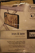 HOMZ IRON & SEW IRONING BOARD COVER WITH PORTABLE SEWING KIT SEAM RIPPER PINS