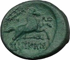 Thessalonica in Macedonia 187BC Ancient Greek Coin Athena War Magic Horse i33502