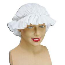 New White Victorian Medieval Maid Mob Cap Tudor Fancy Dress Hat