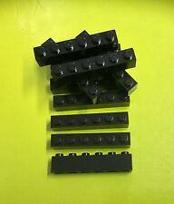 Lego 12 stück Lego Basic Steine 1 x 6 Stein in Schwarz