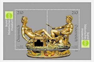 """Austria - """"SCULPTURE ~ SALIERA ~ KUNSTHISTORISCHES MUSEUM"""" 22K Gold MS 2009"""