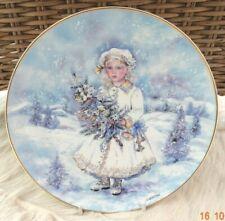 Snow Maiden Christine Haworth Leonardo Collection plate, girl + xmas tree