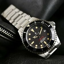 (NEW) STEINHART OCEAN One VINTAGE Red Diver Watch Swiss ETA -  SHIPS SAME DAY