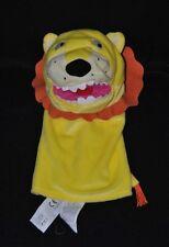 Peluche doudou marionnette lion IKEA Klappar Vild jaune crinière brun NEUF
