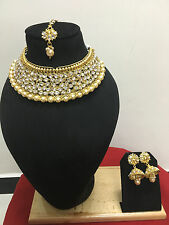 Indian Bollywood Style Gold Plated Wedding Fashion Bridal Jewelry Necklace Set
