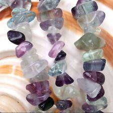 5-10mm Natural Fluorite Gemstone jewelry Freeform Chip Loose Beads 16' DIY