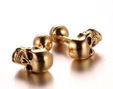 Skull Cufflinks Gold Color