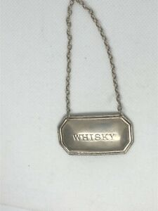 Sterling Silver Whisky Label