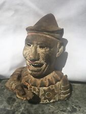 Vintage Cast Iron Humpty Dumpty Clown Working Mechanical Bank Shepard 1884