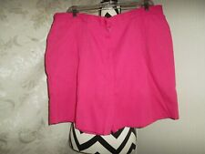 SagHarbor woman size 22W pink pleated front 2-4in elastic 2-pocket shorts
