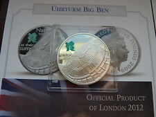 2009 London Olympic Games Big Ben £5 Five Pound Coin Royal Mint SILVER PROOF
