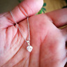 1 TCW Diamond Solitaire Heart Shape Pendant Necklace and Chain 14K White Gold FN