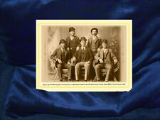 BUTCH & SUNDANCE Hole In The Wall Gang Cabinet Card Photo The Real Deal RP