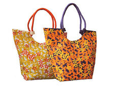 Jute Handbags Bright & Beautiful Floral Design Eco Friendly Strong & Tough UK