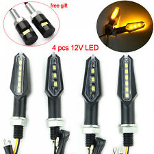 4pcs 3+6 Double Side LED Turn Signal Light Lamp Amber Suzuki SV1000 SV650 GS500F