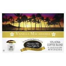 Hawaiian Isles Kona Coffee Co. Kona Vanilla Macadamia 10 Pods