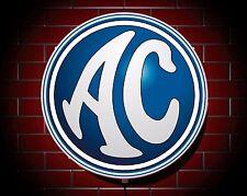 AC COBRA LED 600mm ILLUMINATED GARAGE WALL LIGHT BADGE SIGN LOGO MAN CAVE GIFT