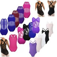 Girls Sleeveless Lace Ballet Dance Leotard Dress Dancewear Gymnastics Jumpsuit