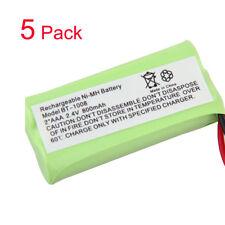 5 pack Uniden BT-1008 BT-1021 Cordless Battery 2*M2.4V 800mAh Ni-MH Dark Green