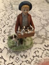 Puppy Love Norman Rockwell Museum figurine Vintage boy dog