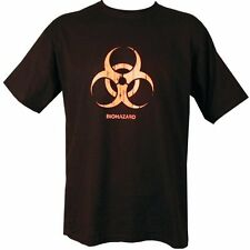 Black TShirt with Biohazard Red Print, 36in Chest