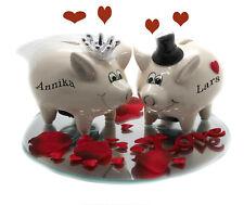 Geldgeschenk zur Hochzeit Sparschein Braut & Bräutigam mit Schloß Spiegel Deko