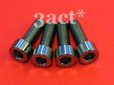 4 pcs - M6 x 18.5mm Titanium/Ti Bolt fit Shimano, Hayes, Avid Disc Brake Caliper