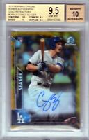 "2016 Bowman Chrome ""GOLD"" RC Auto ""Corey Seager"" RC ""7 HRs"" @#35/50@ BGS 9.5 SSP"