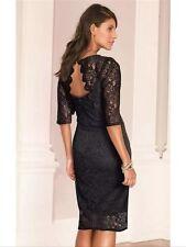 "Bnwt "" Next "" Size 6 Black Lace Dress Evening Cocktail Party Bodycon Dress New"