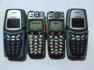 2 UNLOCKED NOKIA 5210 MOBILE PHONES, ONE BLUE AND ONE GREEN
