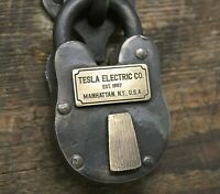 Nikola Tesla Electric Co New York Manhattan steam punk Antique Lock Movie Prop