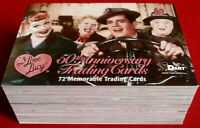 I LOVE LUCY, 50th Anniversary - COMPLETE BASE SET (72 cards) - Dart Flipcards