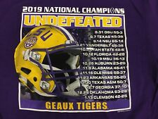 LICENSED LSU TIGERS 2019-2020 NATIONAL CHAMPIONSHIP T-SHIRT SHORT SLEEVE