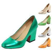 tata Womens Metallic Tone Ladies High Heels Pumps Shoes Size 1 2 3 4 5 6 7 8